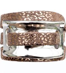 Bracelet triple tours URSA Saumon