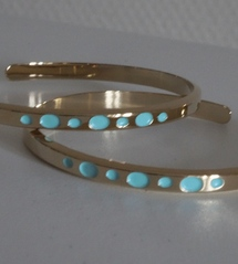Créole Or points turquoise